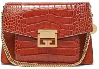 Givenchy Gv3 Small Crocodile Effect Leather Cross Body Bag - Womens - Tan