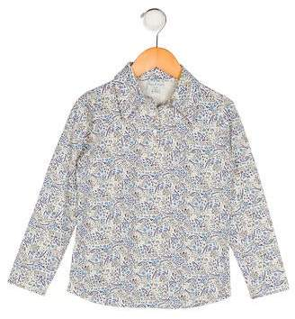 Papo d'Anjo Girls' Floral Print Top