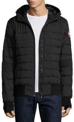 Canada Goose Cabri Hooded Down Bomber Jacket $550 thestylecure.com