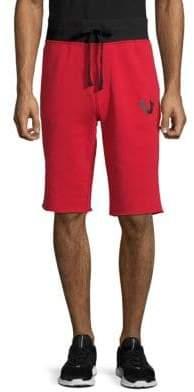 True Religion Logo Cotton Shorts