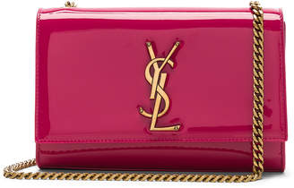 Saint Laurent Small Patent Monogramme Kate Chain Bag