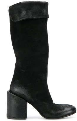 Marsèll distressed detail textured boots