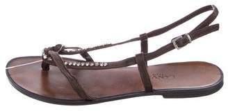 Lanvin Embellished Thong Sandals