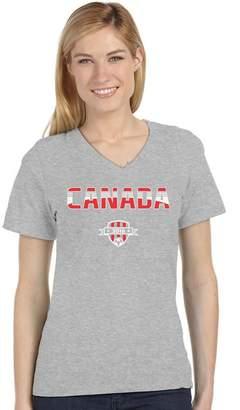 DAY Birger et Mikkelsen Tstars TeeStars - Canada National Soccer Team Fans V-Neck Women T-Shirt
