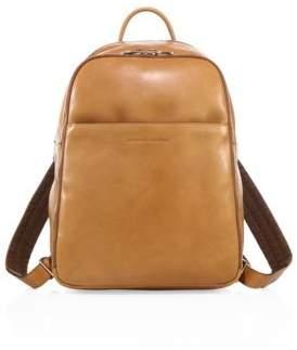 Brunello Cucinelli Camel Leather Backpack