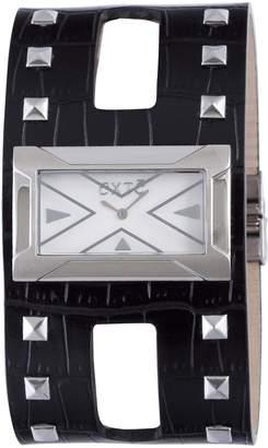 Exte Women's EX.4017M/02 Black Calfskin Band watch.