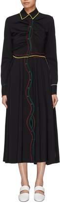 Rosie Assoulin 'Louise Bonnet' detachable skirt wavy placket shirt dress
