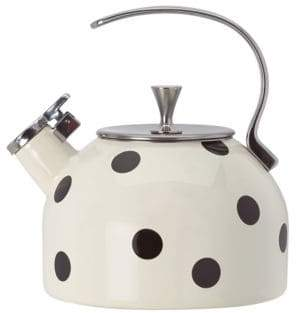 Kate Spade Whistling Scatter Dot Tea Kettle