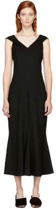 Rosetta Getty Black Split Neck Flared Dress