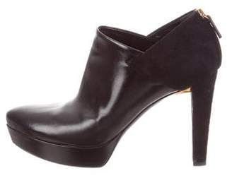 Gucci Leather Platform Booties