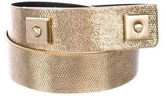 Diane von Furstenberg Metallic Leather Belt