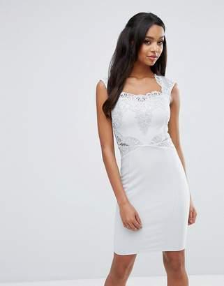 Lipsy Sequin Lace Pencil Dress