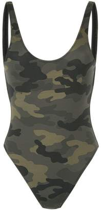 The Upside camouflage scoop swimsuit