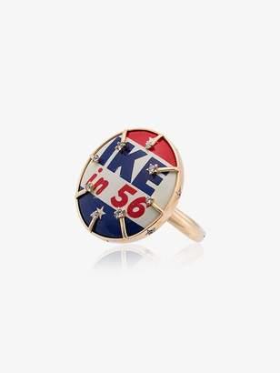 Francesca Villa 18k yellow gold Politically Correct diamond ring