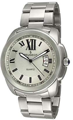 Peugeot Men's 1047S Silver Stainless Steel Analog Display Quartz Silver Watch