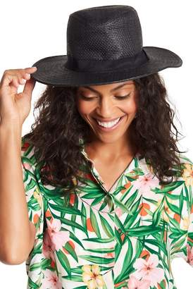August Hat Solid Band Fedora