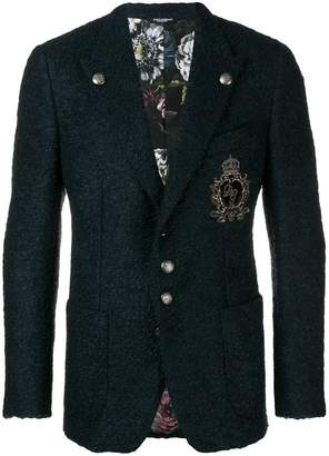 Dolce & Gabbana single breasted jersey blazer