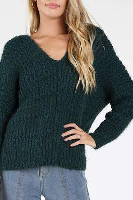 Honey Punch Green-With-Envy Sweater