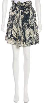 Magaschoni Silk Printed Mini Skirt