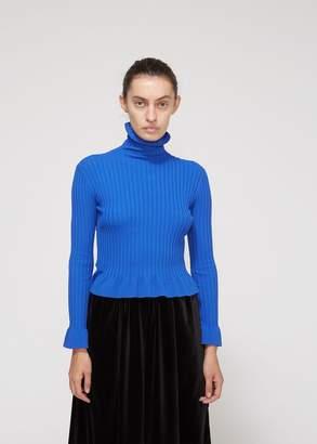 Xiao Li Long Sleeve High Neck Rib Knit