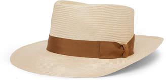Lock & Co Hatters Sicily Grosgrain-Trimmed Straw Panama Hat - Men - Brown