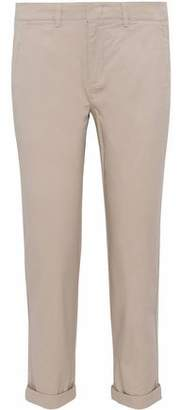 Vince Cropped Stretch-Cotton Twill Skinny Pants