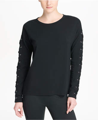 DKNY Sport Long Lace-Up Sleeves T-Shirt