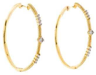 Jude Frances 18K Diamond Lisse Hoops