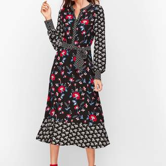 Talbots Mixed Floral Crepe Dress