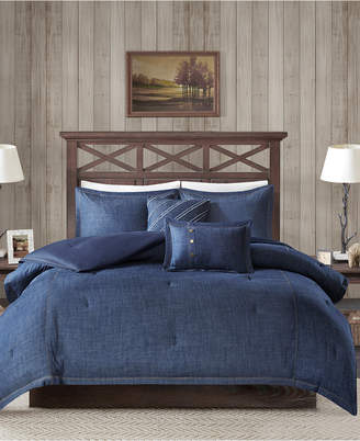 Woolrich Perry 5-Pc. King/California King Denim Comforter Set Bedding