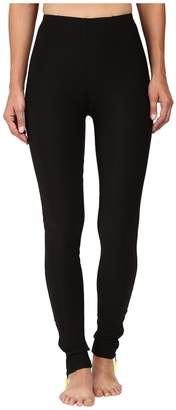 Plush Fleece-Lined Zippered Running Leggings with Pocket Women's Casual Pants