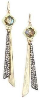 Alexis Bittar Elements Crystal& 10K Yellow Gold Tassel Earrings