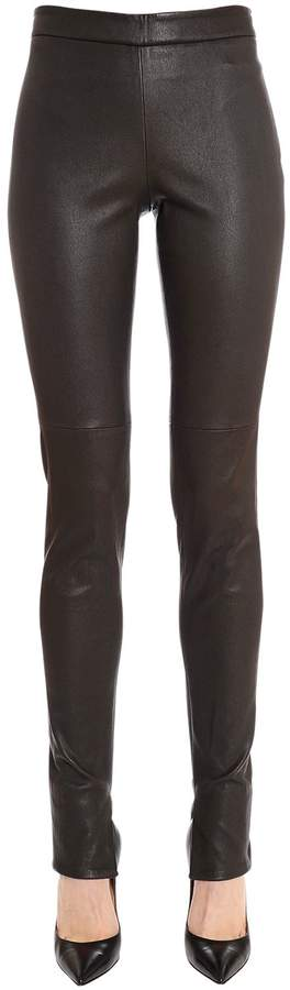 Akris Nappa Leather Leggings