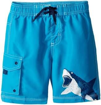Hatley Shark Alley Boardshorts Boy's Swimwear