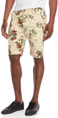 Billionaire Boys Club Green Printed Jacquard Shorts