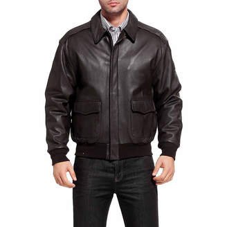 Asstd National Brand Air Force A 2 Leather Bomber Jacket Tall