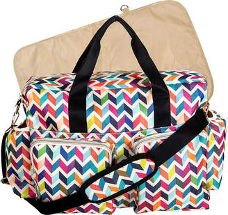French Bull TREND LAB, LLC Chevron Deluxe Duffle Diaper Bag