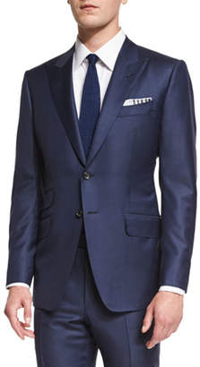 TOM FORD O'Connor Base Sharkskin Two-Piece Suit, Bright Navy $3,880 thestylecure.com