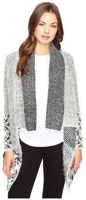 Christin Michaels Embry Long Sleeve Fuzzy Cardigan $94 thestylecure.com