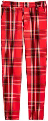 Jaywalker Big Boys 4-Pocket Plaid Pants