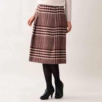 Amaca (アマカ) - アマカ ウールシャギーチェックフレアースカート