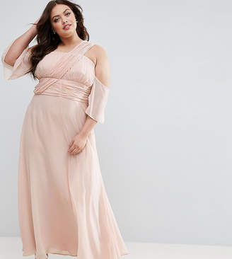 Asos Wedding One Shoulder Maxi Dress