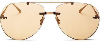 Bottega Veneta Women's Brow Bar Rimless Aviator Sunglasses, 63mm