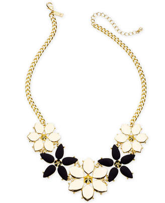 "INC International Concepts I.n.c. Gold-Tone Stone Flower Statement Necklace, 19"" + 3"" extender, Created for Macy's"
