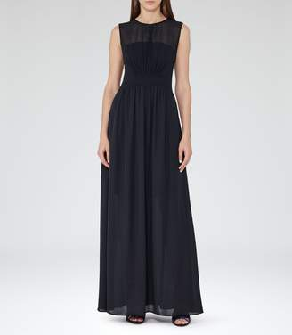 Free Returns At Reiss Clara Sleeveless Maxi Dress