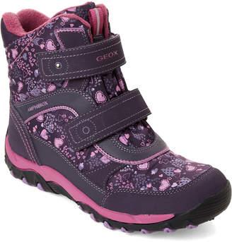 Geox Kids Girls) Purple Alaska Velcro Boots