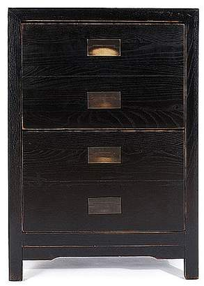 Lom Bok Canton Black Lacquer Filing Cabinet