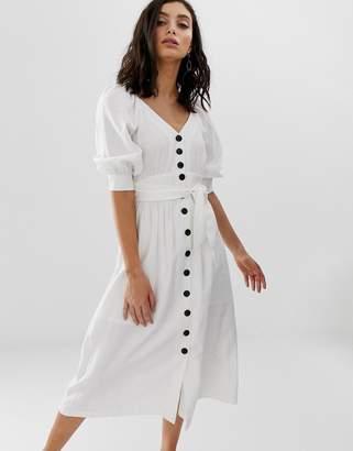 Moon River buttondown midi dress