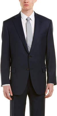Hart Schaffner Marx Chicago Classic Fit Wool-Blend Suit With Flat Front Pant
