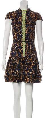 Camilla And Marc Cap-Sleeve Printed Mini Dress